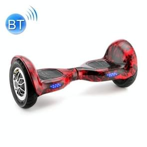 [EU Warehouse] 10 inch Balance Scooter 350W 4.0Ah Two-wheeled Scooter with Bluetooth & Remote Control & LED Turn Signal Lights & Car Bag  Max Speed :15km/h (Flame Red)