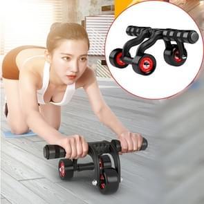 Drie wielen abdominale Roller ronde Home Office buiten dempen Fitness apparatuur sport voor Man / vrouw