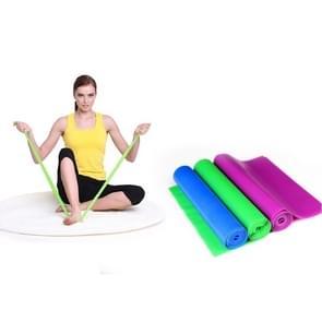 Fitness apparatuur elastische oefening weerstand Bands training Pull Stretch Band sport sportschool Yoga Tools  grootte: 1.5 m * 15 cm * 0.35 mm  willekeurige kleur levering