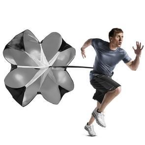 Krachttraining met Fitness paraplu snelheid boren Wind lucht weerstand sterkte opleiding Parachute Umbrella(Black)