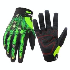 Winter Riding Gloves with Touch Screen Function Waterproof Windproof Warm Gloves  Size: S(Green)