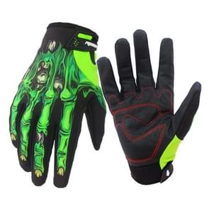Winter Ridding Gloves with Touch Screen Function Waterproof Windproof Warm Gloves  Size: M (Green)