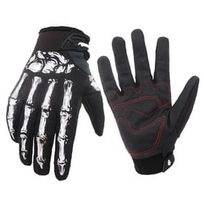 Winter Ridding Gloves with Touch Screen Function Waterproof Windproof Warm Gloves  Size: L (Black)