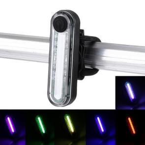 Waterproof USB Rechargeable 6 Modes Multi Color Light 100LM COB LED Bike Taillight with Clip