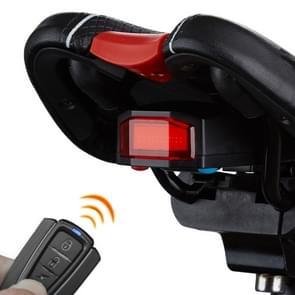 ANTUSI A6 USB opladen COB lichtbron Smart Cycling Bike waarschuwing Alarm achterlicht met afstandsbediening