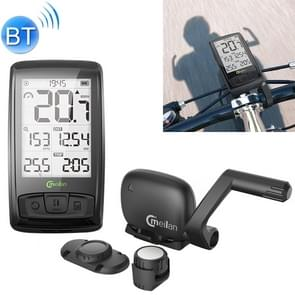 MEILAN M4 IPX5 Waterproof Bluetooth V4.0 Wireless Bike Computer Cycling Stopwatch Speedometer Speed Cadence Sensor Odometer with 2.5 inch Screen