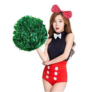 10 PCS Square Dance Aerobics Cheerleading Ball Hand Flower Bouquet  Ribbon Length: 25cm(Green)