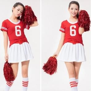 10 PCS Square Dance Aerobics Cheerleading Ball Hand Flower Bouquet  Ribbon Length: 28cm(Red)