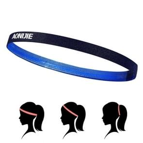 AONIJIE High Elastic Tennis Headband Sweat Bands  Unisex Outdoor Running Riding Sweat Guide Bands  Head Circumference: 46-60cm(Blue)