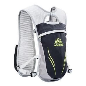 AONIJIE langlaufen buiten rijden Unisex rugzakken lichtgewicht Marathon waterfles ademend Vest  grootte: L(Grey)