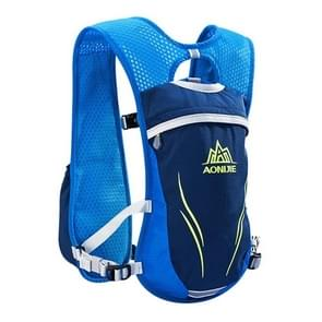 AONIJIE langlaufen buiten rijden Unisex rugzakken lichtgewicht Marathon waterfles ademend Vest  grootte: S(Blue)