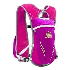 AONIJIE langlaufen buiten rijden Unisex rugzakken lichtgewicht Marathon waterfles ademend Vest  grootte: S(Magenta)