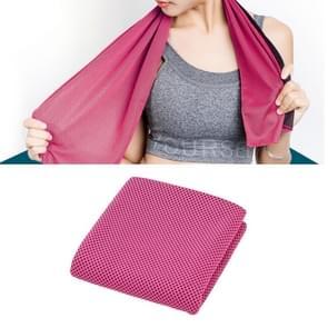 2 PC's Microfiber stof sportschool sport handdoek blijvende ijs handdoek  grootte: 30*100cm(Magenta)