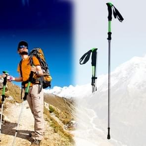 125cm Adjustable Portable Outdoor Aluminum Alloy Trekking Poles Stick(Green)