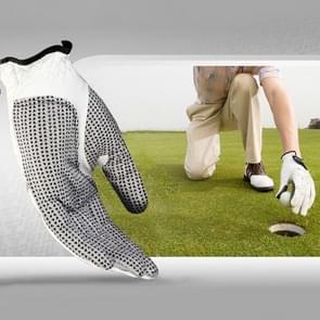 Linkerhand schapenvacht antislip Particle Golf mannen handschoenen  grootte: 25 #