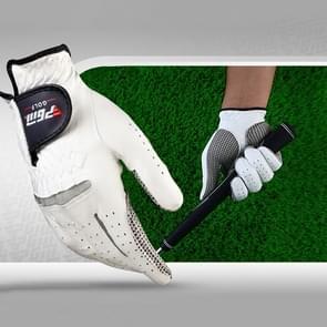 Right Hand Sheepskin Anti-slip Particle Golf Men Gloves  Size: 25#