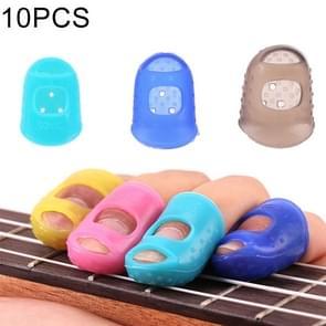 10 stuks Guitar Ukulele snaarinstrument vinger Protector anti-pijn vinger Cap in willekeurige kleur Delivery(Size: L)
