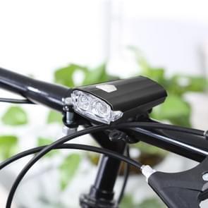 RAYPAL RPL-2251 USB oplaadbare 3 modi fiets koplamp met stuurhouder