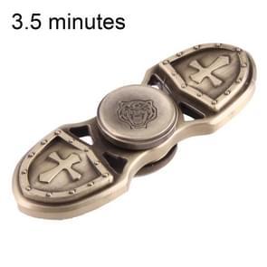 KASFLY Retro Fidget Spinner Speeltje tegen stress en angst voor kinderen en volwassenen  3.5 Minuten Rotatie Tijd  Zink legering met kleine keramische balletjes  Tweebladig (goudkleurig)