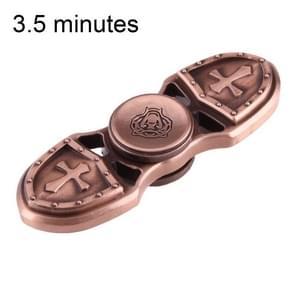 KASFLY Retro Fidget Spinner Speeltje tegen stress en angst voor kinderen en volwassenen  3.5 Minuten Rotatie Tijd  Zink legering met kleine keramische balletjes  Tweebladig (bruin)