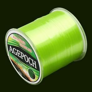 4.0# 0.32mm 10.2kg spanning 500m Extra sterk ingevoerde ruwe zijde Nylon vislijn (geel gras)