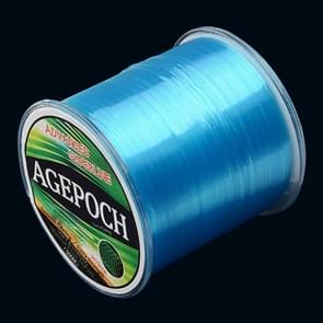 4.0# 0.32mm 10.2kg Tension 500m Extra Strong Imported Raw Silk Nylon Fishing Line (Blue)