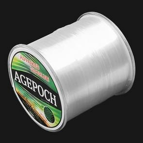 4.0# 0.32mm 10.2kg Tension 500m Extra Strong Imported Raw Silk Nylon Fishing Line (Transparent)
