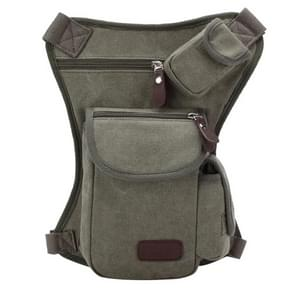 Multifunction Canvas Messenger Mobile Phone Bags Travel Crossbody Shoulder Waist Bag  Size: 31x24x5cm(Army Green)