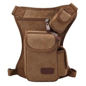 Multifunction Canvas Messenger Mobile Phone Bags Travel Crossbody Shoulder Waist Bag  Size: 31x24x5cm(Coffee)