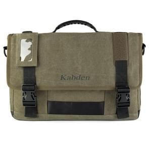 Multifunctionele doek Messenger Laptop tas Crossbody Business Briefcase Tablet tas Hand schoudertas  grootte: 29x44x8.5cm (leger-groen)