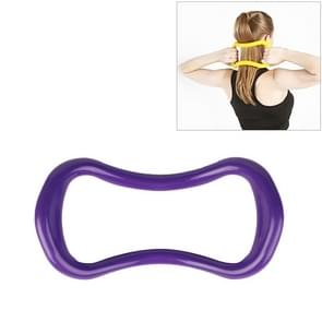 Soepele Yoga Pilates magische cirkel fascia stretching training ring (paars)
