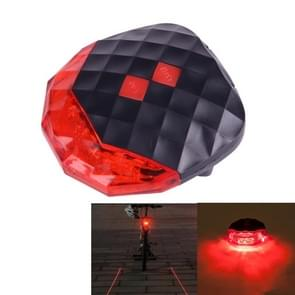 7 Modes 5 LEDs and 2 Lasers Bicycle Tail Light Warning Lamp (Red Light)