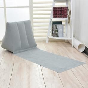 Buiten strand PVC dikke stroomden strand mat opblaasbare driehoek pad  grootte: 150x38x46cm (grijs)