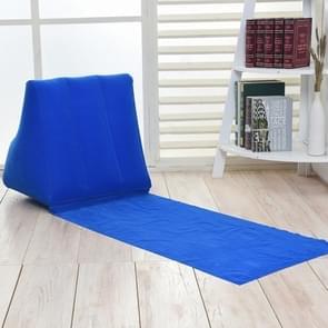 Buiten strand PVC dikke stroomden strand mat opblaasbare driehoek pad  grootte: 150x38x46cm (blauw)
