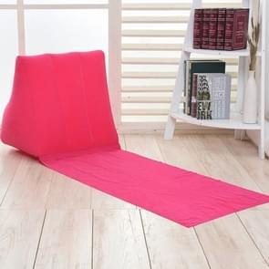 Buiten strand PVC dikke stroomden strand mat opblaasbare driehoek pad  grootte: 150x38x46cm (Rose rood)