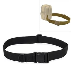 Outdoor Riding Hiking Sports Military Style Multifunctional Waist Belt(Black)