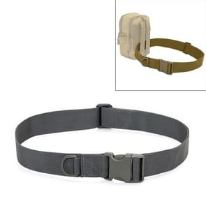 Outdoor Riding Hiking Sports Military Style Multifunctional Waist Belt(Grey)