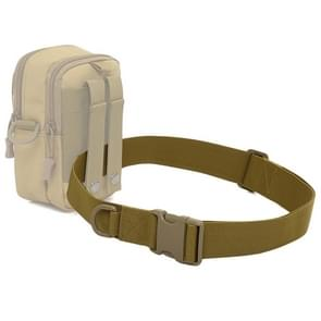 Outdoor Riding Hiking Sports Military Style Multifunctional Waist Belt(Khaki)