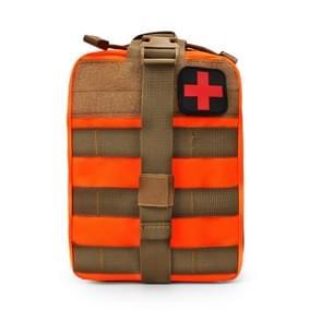 Outdoor reizen draagbare EHBO kit (oranje)