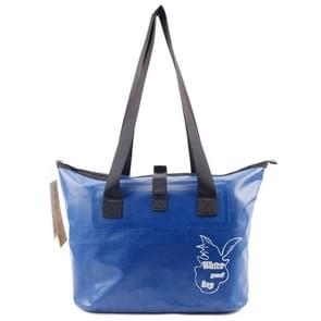 Outdoor slijtvaste waterdichte schoudertas droge en natte scheiding zwemmen tas (donkerblauw)