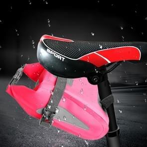 Outdoor waterdichte multi-functionele PVC tas tool tas voor fiets (roze)