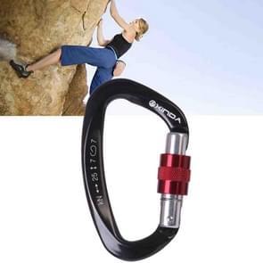 Professionele klimmen D-vormige Master Lock Carabiner veiligheid gesp buiten Climbing Equipment levert (zwart)