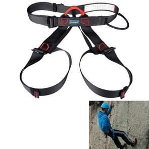 Klimmen Harness veilig dragen van de veiligheidsgordel voor Rock hoog niveau speleologie klimmen verstelbare abseilen apparatuur halve lichaam bewaker Protect(Black)