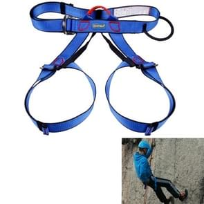 Climbing Harness Safe Seat Belt for Rock High Level Caving Climbing Adjustable Rappelling Equipment Half Body Guard Protect(Blue)