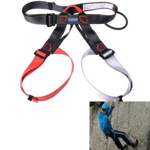 Climbing Harness Safe Seat Belt for Rock High Level Caving Climbing Adjustable Rappelling Equipment Half Body Guard Protect(Red)