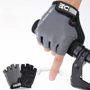 BaseCamp BC-204 Fiets Half Finger Handschoenen Lycra Fabric fietshandschoenen  maat: XL(Grijs)