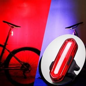 AQY-096 IPX4 afneembare USB oplaadbare Dual Color LED fiets achterlicht (Blue & rood)