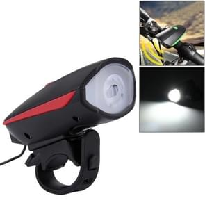 125 / 250LM 3 modi USB oplaadbare LED helder licht met hoorn- & Stuur Mount(Red)