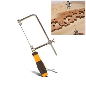 U vormige Hacksaw met messen voor metaal / hout / kunststof buis / draad DIY Hand Tool draagbare houtbewerking zag  breedte: 75mm