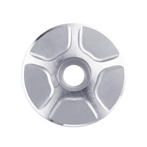 1 paar C17 fiets CNC aluminium fiets headset Cap (zilver)
